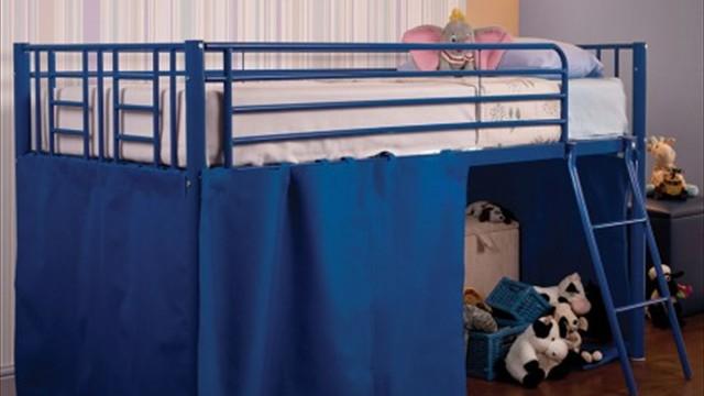 blue tent cabin