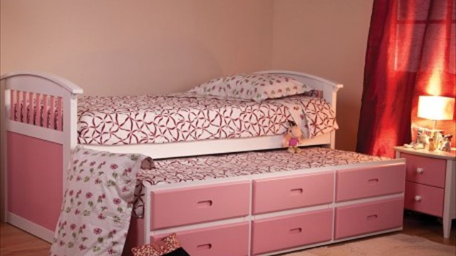 pink cabin bed